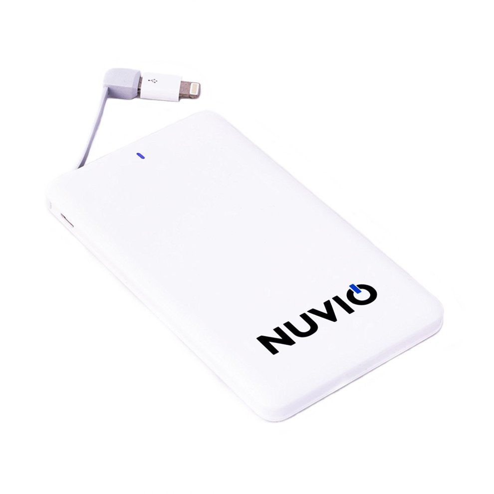 Nuvio Power Bank 5000mah Slim Portable Usb External Battery Charger