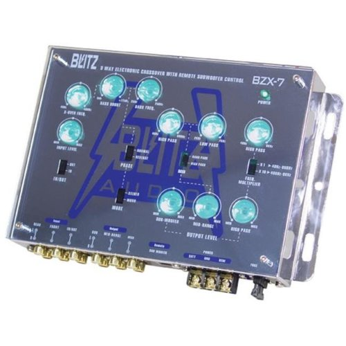Blitz BZX7 3-Way Electronic Crossover Network with Subwoofer Level Control