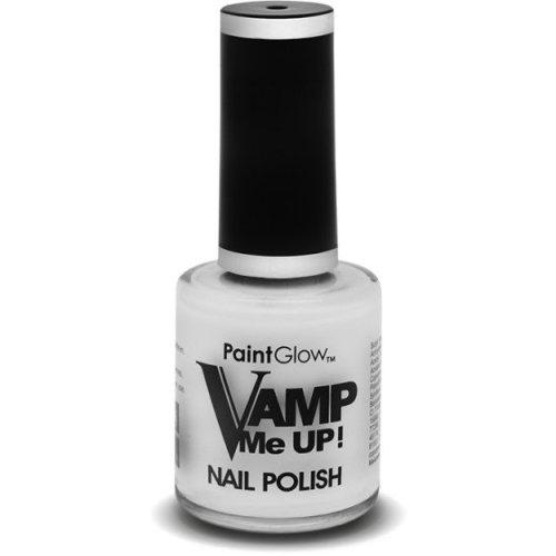 10ml White Paintglow Vamp Me Up Nail Polish -  vamp nail polish me up halloween makeup vampire varnish white paintglow 12ml fake blood fancy dress
