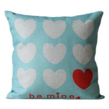 "17"" Vintage Style Comfortable Throw Pillow Soft Pillow Sofa Cushion, Hearts"