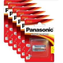 6 x Panasonic CR123A 3V Lithium Photo Battery 123 CR123 DL123 CR17345 Camera