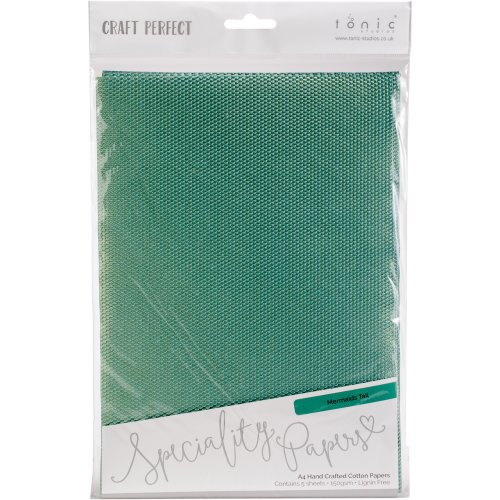 Craft Perfect Handcrafted Cotton Papers A4 5/Pkg-Mermaids Tail
