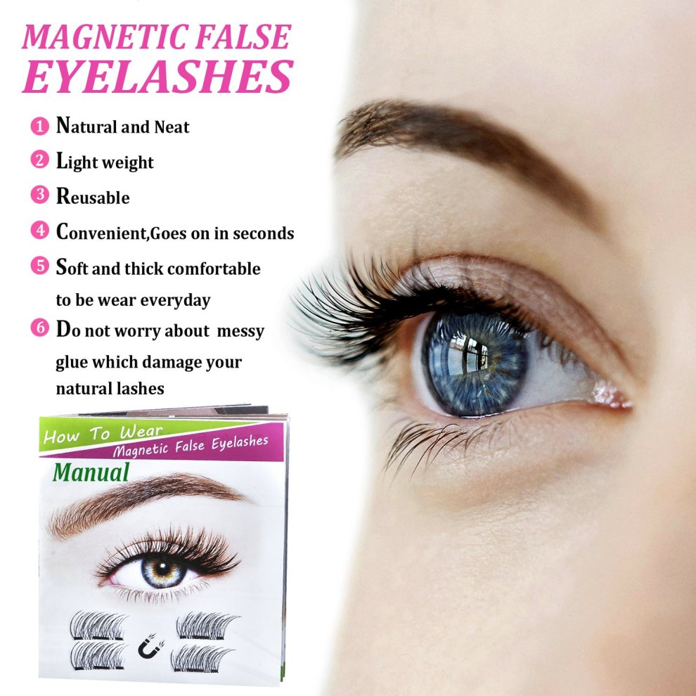 20f41b4a72f ... Lightweiht 3D Magnetic Eyelashes Natural Look,Yumay Best Fake Eyelashes  with False Lashes Applicator, ...