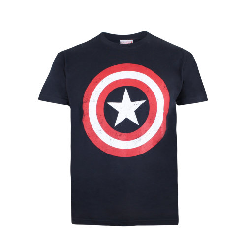 Marvel Captain America Shield Boys T-shirt Navy