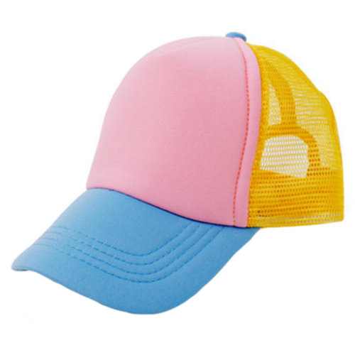 Kids Baseball Cap Mesh Hat Fitted Caps Sports Cap, Blue&Pink&Yellow