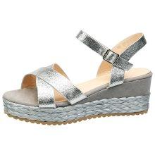 Anjali Womens Mid Wedge Heel Platform Open Toe Sandals