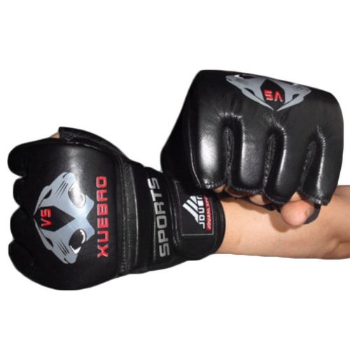 Adult Fighting Half-finger Gloves -UFC Boxing Gloves - Gloves MMA--Black R