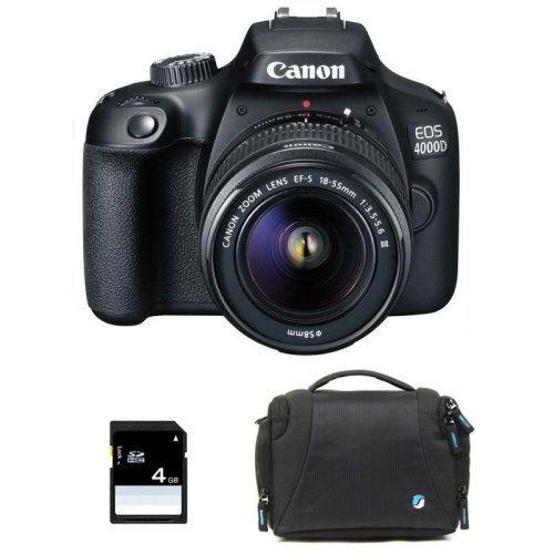 Canon EOS 400D Camera Bundle With Lens, Camera Bag & 4GB SD Card