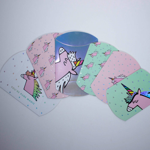 Unicorn Magical Summer Gift Box Set of 6 Pillow Boxes