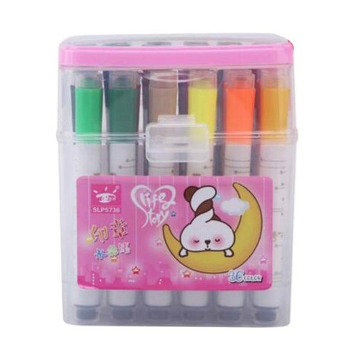 [H] 36 Colors Watercolor Drawing Pens Colored Marker Pens Set for Children