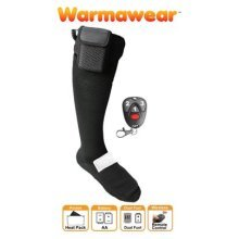 Warmawear Battery Heated Socks with Dual Fuel Pocket, Remote Control - Small (S)