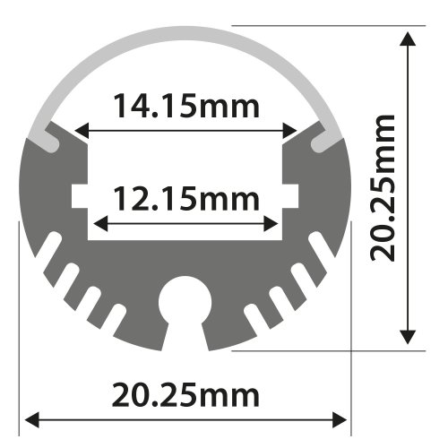 Aluminium LED Tape Profile - Tube Batten