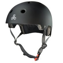 Triple Eight 3037 Dual Certified Helmet, Small/Medium, All Black Rubber