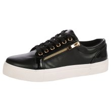 Rowena Womens Flat Lace Up Skater Trainers