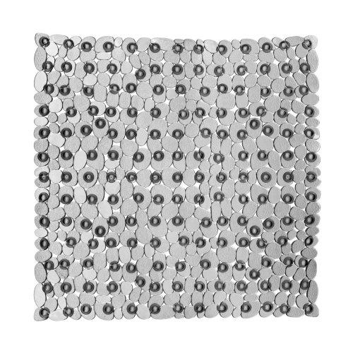 Pebble Design Square Bath Mat, Transparent Grey