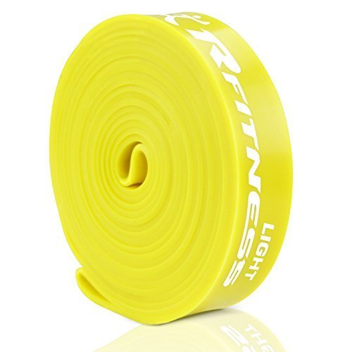 RFitness Furinno RF1506 YL Professional Long LOOP Stretch Latex Exercise Band 41 Light Yellow