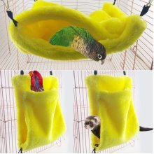 Bird Parrot Toy Bed Hanging Swing Cage