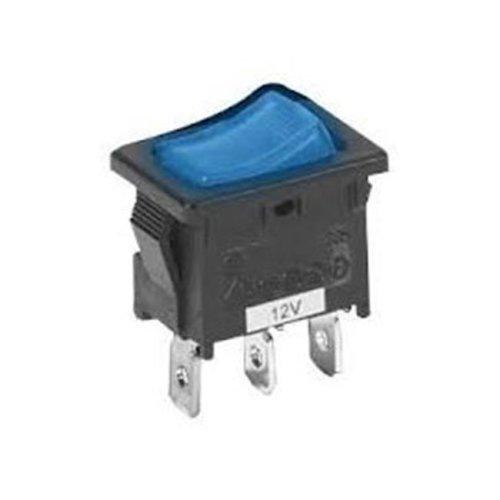 Pilot Automotive PL-SW12B Mini Rocker Switch With Blue Illumination