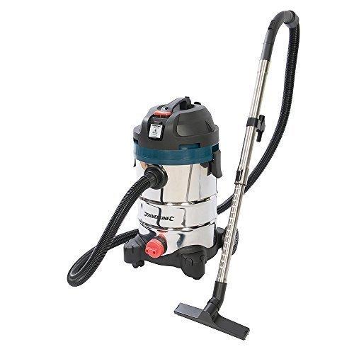 Silverline Silverstorm 1250w Wet & Dry Vacuum Cleaner 30ltr 1250w - 974451 -  1250w vacuum cleaner wet dry silverstorm 30ltr silverline 974451