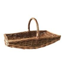 Large Curved Base Rectangular Country Unpeeled Garden Trugs