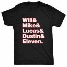 8TN Stranger - Characters Will Mike Lucas - Things & Womens T Shirt