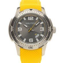 Nautica NAI12520G Watch Grey Dial Yellow Strap