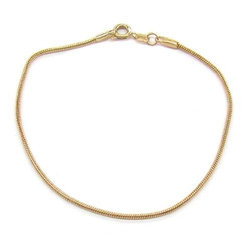 New 9 CT Gold Filled Snake Polish Bracelet 20cm 8 '' B28