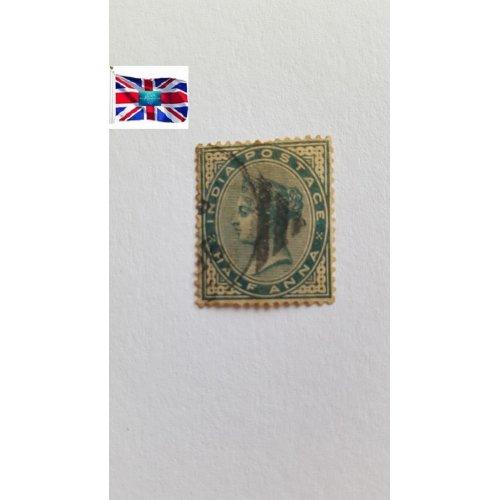 "India 1883 ""Queen Victoria"" ½ Indian anna"