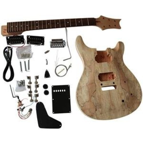 Mahogany body with Spalted Maple Veneer GD815  Top Electric Guitar DIY Kit BOLT-ON