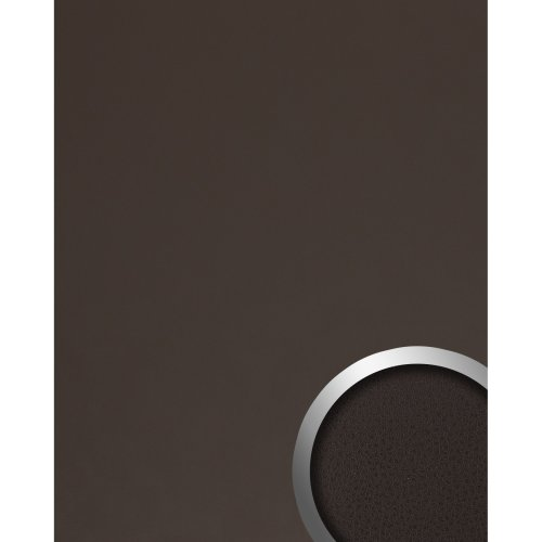 WallFace 19782 Antigrav LONDON CLAY Design panelling nappa leather look brown