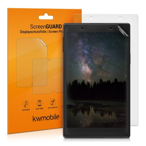kwmobile 2x Screen Protector for Lenovo Tab 4 8 Plus - Anti-Scratch, Anti-Fingerprint, Matte Display Film for Tablet - Set of 2